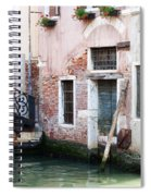 Stucco And Brick Canalside Building Venice Italy Spiral Notebook