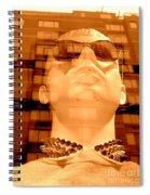 Stud Collared Stud Spiral Notebook