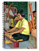 Students Playing Traditional Thai Instruments In Music Class At  Baan Konn Soong School In Sukhothai Spiral Notebook