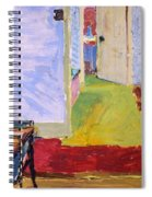 Studio Space, Ivor Street, Nw1 Oil On Canvas Spiral Notebook