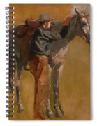 Study For Cowboys In The Badlands Spiral Notebook