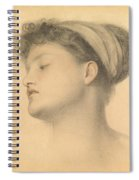 Study For Girl With Doves Spiral Notebook