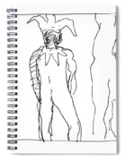 Study For Harlequin And Nude Spiral Notebook