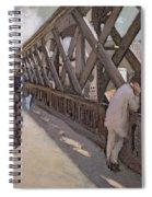 Study For Le Pont De L Europe Spiral Notebook