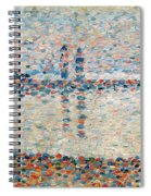 Study For The Channel At Gravelines Evening Spiral Notebook