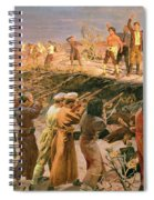Study For The Execution Of The Twenty Six Baku Commissars Spiral Notebook