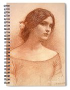 Study For The Lady Clare Spiral Notebook