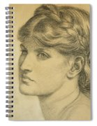 Study Of A Head For The Bower Meadow Spiral Notebook