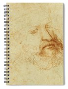 Study Of A Male Head Spiral Notebook