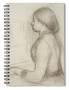 Study Of A Young Girl At The Piano Spiral Notebook