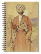 Study Of An Afghan Warrior, Tehran, 1848 Spiral Notebook