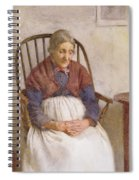Study Of An Elderly Lady Spiral Notebook