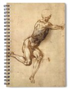 Study Of Figure To Battle Of Cascina Spiral Notebook