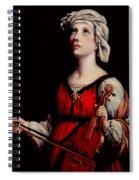Study Of St. Cecelia Spiral Notebook