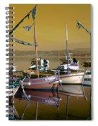 Stunning Fishing Port Spiral Notebook