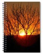 Stunning Stone Park Sunset Spiral Notebook