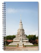 Stupa At The Silver Pagoda, Cambodia Spiral Notebook