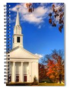 Sturbridge Church In Autumn Spiral Notebook