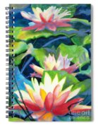 Styalized Lily Pads 3 Spiral Notebook