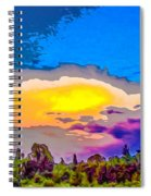 Stylised Sunset Spiral Notebook