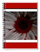 Stylized Daisy With Red Border Spiral Notebook