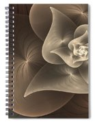 Stylized Philodendron Sepia Spiral Notebook