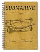 Submarine Patent 3 Spiral Notebook