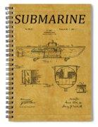 Submarine Patent 5 Spiral Notebook