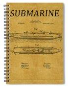 Submarine Patent 7 Spiral Notebook