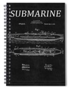 Submarine Patent 8 Spiral Notebook