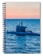 Submarine Sunset Spiral Notebook