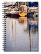 Subtle Colored Marina Reflections Spiral Notebook
