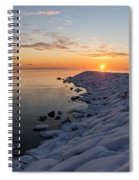 Subtle Pinks And Golds And Violets In A Bright Sunrise Spiral Notebook