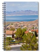 Suburbs And Lake Mead With Surrounding Spiral Notebook