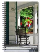 Suburbs - Porch With Rocking Chair And Geraniums Spiral Notebook