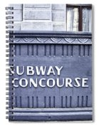 Subway Concourse At City Hall Spiral Notebook