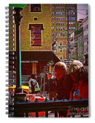Subway - Late Afternoon Rush On A Cold Day Spiral Notebook