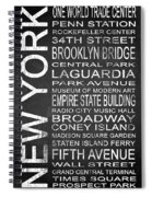 Subway New York 3 Spiral Notebook