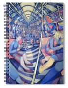 Subway Nyc, 1994 Oil On Canvas Spiral Notebook