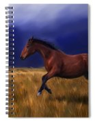 Galloping Horse Painting Spiral Notebook