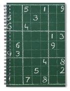 Sudoku On A Chalkboard Spiral Notebook