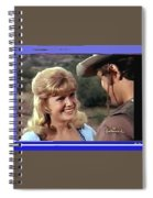 Sue Green Mark Slade The High Chaparral 1966 Pilot Screen Capture Collage 1966-2012 Spiral Notebook
