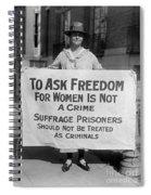 Suffragist 1917 Spiral Notebook