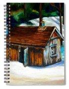 Sugar Shack Quebec Landscape Spiral Notebook