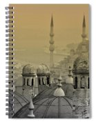 Suleymaniye Mosque And New Mosque In Istanbul Spiral Notebook