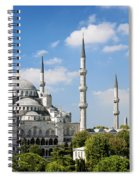 Sultan Ahmed Mosque Landmark In Istanbul Turkey Spiral Notebook
