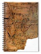 Sumerian Map, Clay Cuneiform Tablet Spiral Notebook