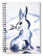 Sumi-e Snow Bunny Spiral Notebook