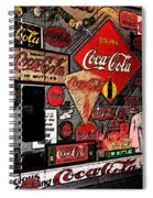 Sumi-e Styled Coca Cola Signs Spiral Notebook
