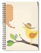 Summer Bird Spiral Notebook